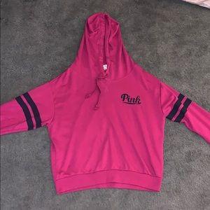 Maroon Victoria's Secret Pink Hoodie